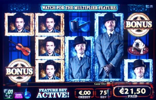 slot machine Sherlock Holmes